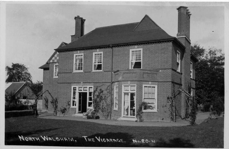 Photograph. The North Walsham Vicarage, Yarmouth Road. (North Walsham Archive).