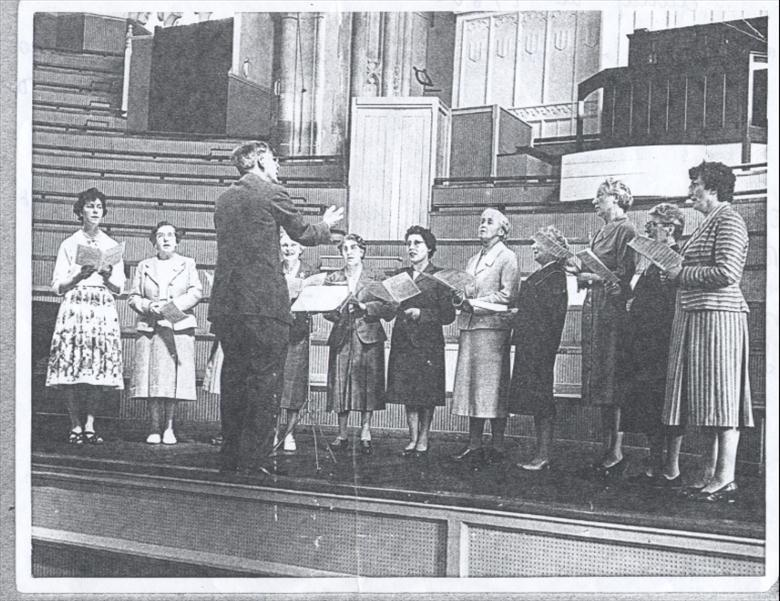 Photograph. North Walsham W.I.Choir. (North Walsham Archive).
