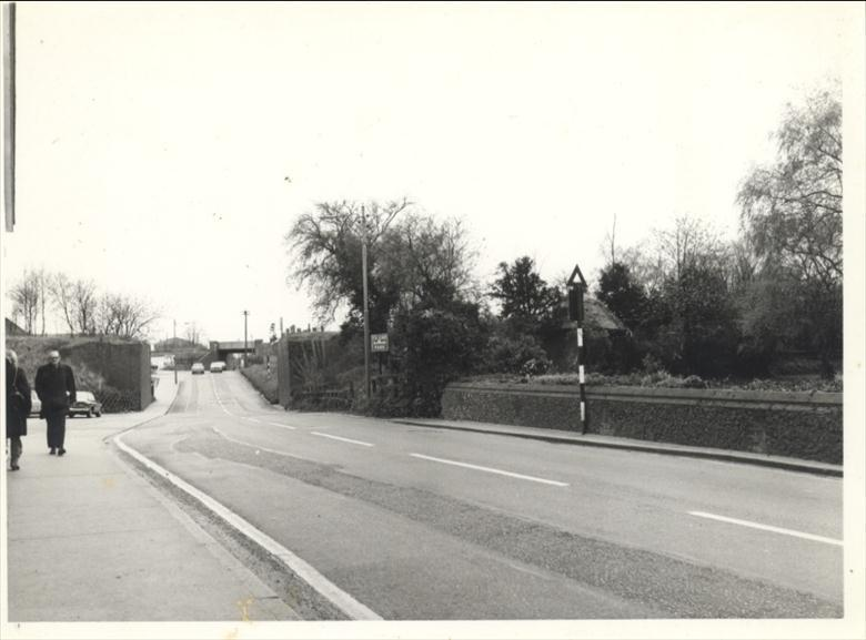 Photograph. Norwich Road in the 1970's (North Walsham Archive).