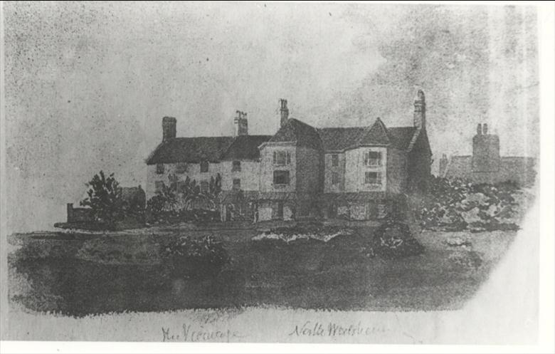 Photograph. The Old Vicarage, now four vertical apartments. (North Walsham Archive).
