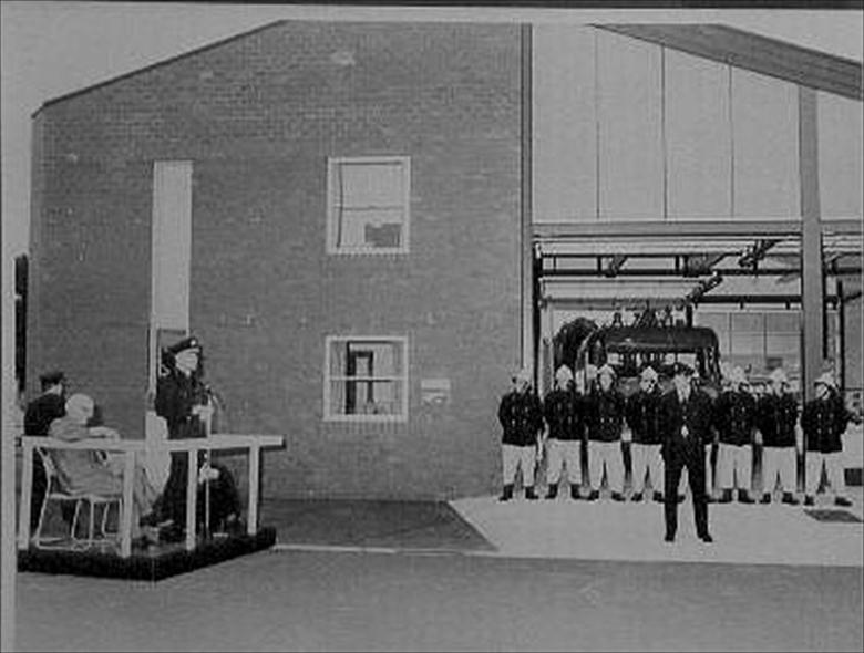 Photograph. Opening of New Fire Station, New Road, North Walsham (North Walsham Archive).