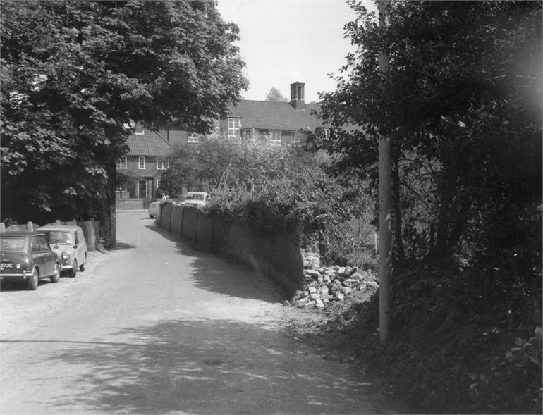 Photograph. Park Lane in the sixties. (North Walsham Archive).
