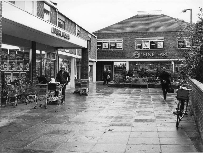 Photograph. Shopping Precinct 1970s (North Walsham Archive).