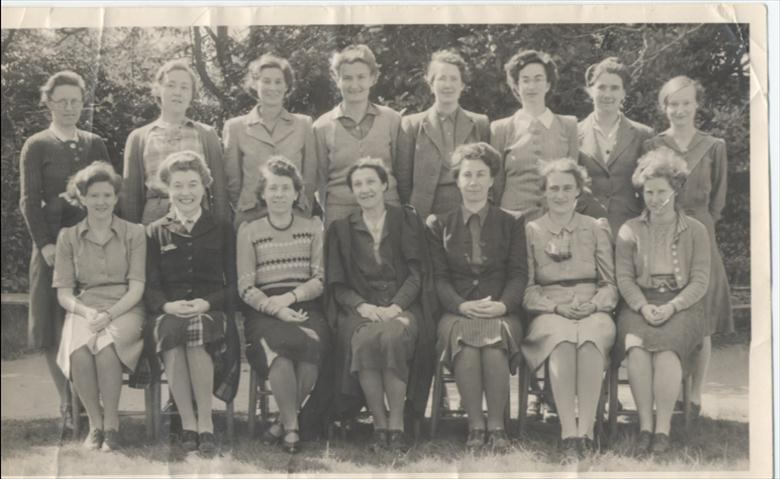 Photograph. Staff North Walsham Girls' High School, mid 1940's. (North Walsham Archive).