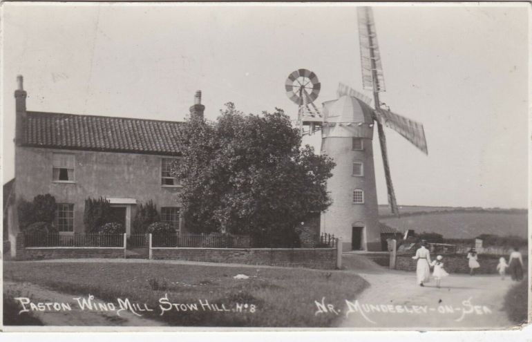 Photograph. Stow Mill, Paston near Mundesley (North Walsham Archive).
