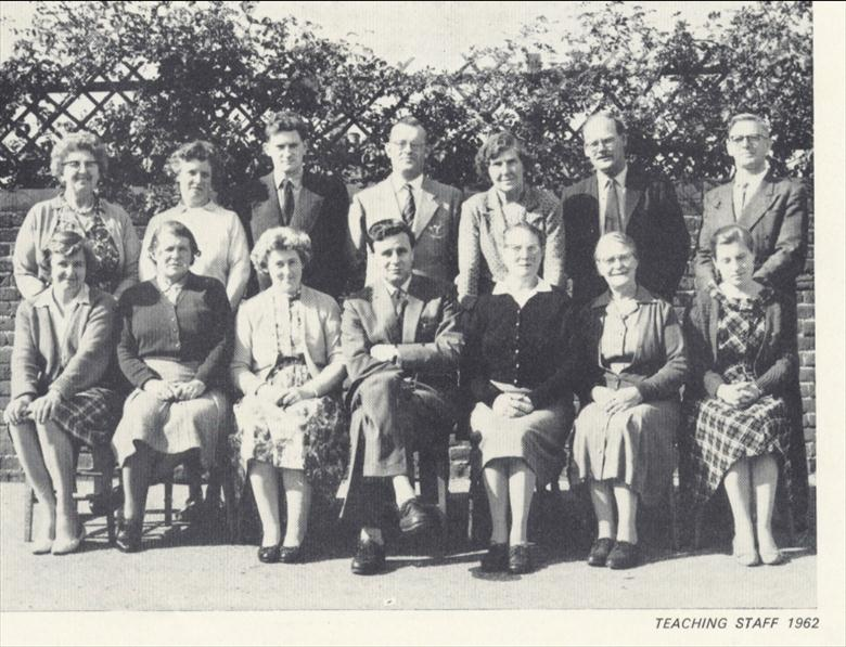 Photograph. Teaching Staff, Manor Road Primary School 1962. (North Walsham Archive).