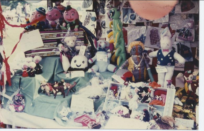 Photograph. Toys sold to raise money for the building of the Community Centre. 1971. (North Walsham Archive).