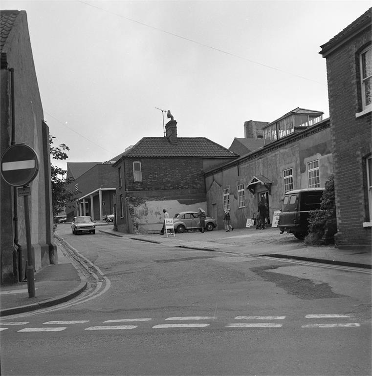 Photograph. Vicarage Street around 1980 (North Walsham Archive).