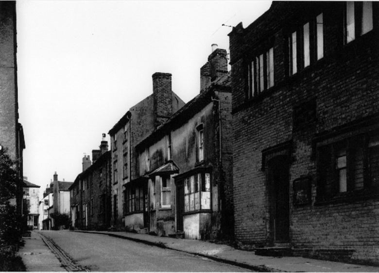 Photograph. Vicarage Street, North Walsham. Congregational Church Sunday School Hall on right (North Walsham Archive).