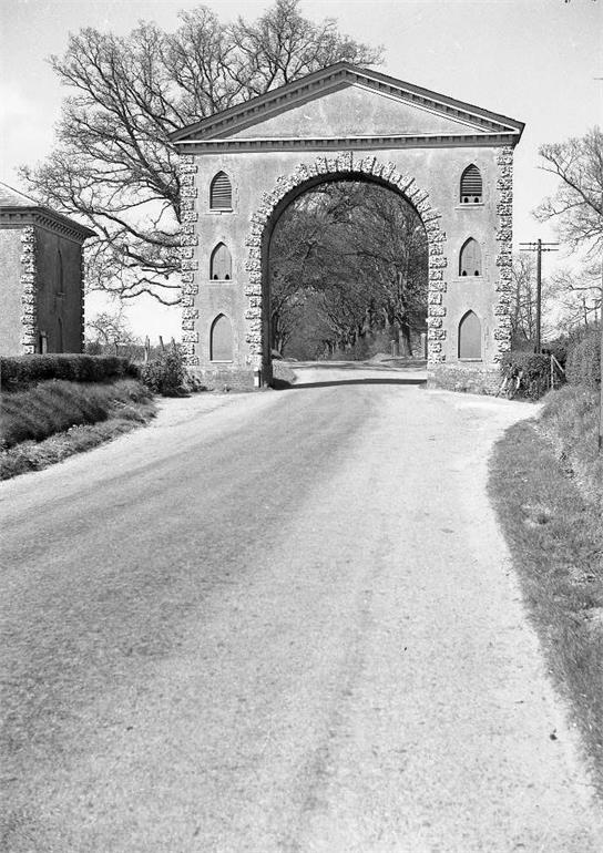 Photograph. Westwick Arch on the Norwich Road (North Walsham Archive).