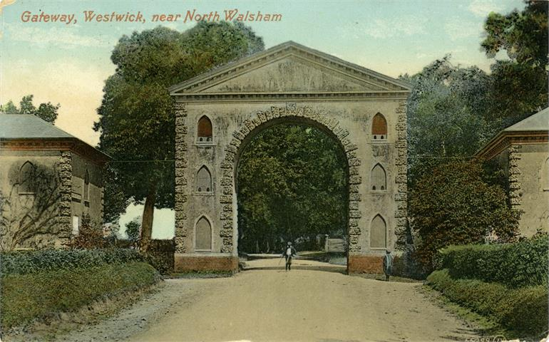 Photograph. Westwick Arch - postcard. (North Walsham Archive).