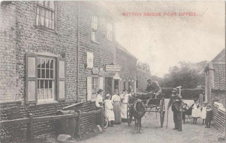 Photograph. Witton Bridge Post Office (North Walsham Archive).